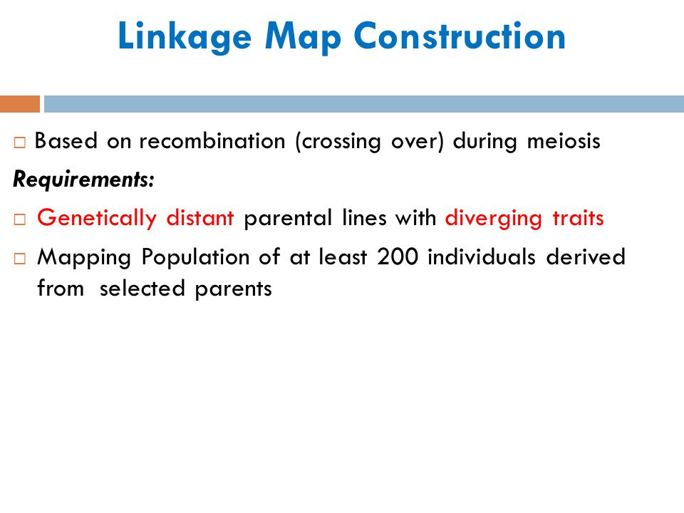 Linkage Map Construction
