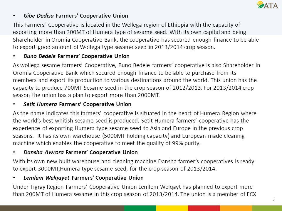 Gibe Dedisa Farmers' Cooperative Union