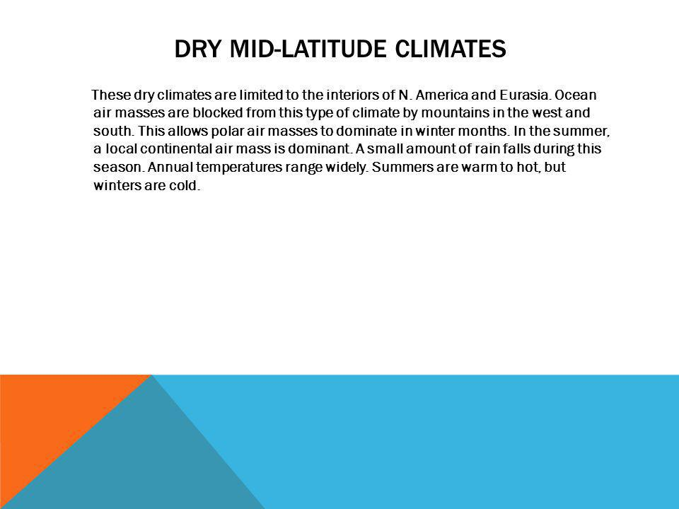 Dry mid-latitude climates