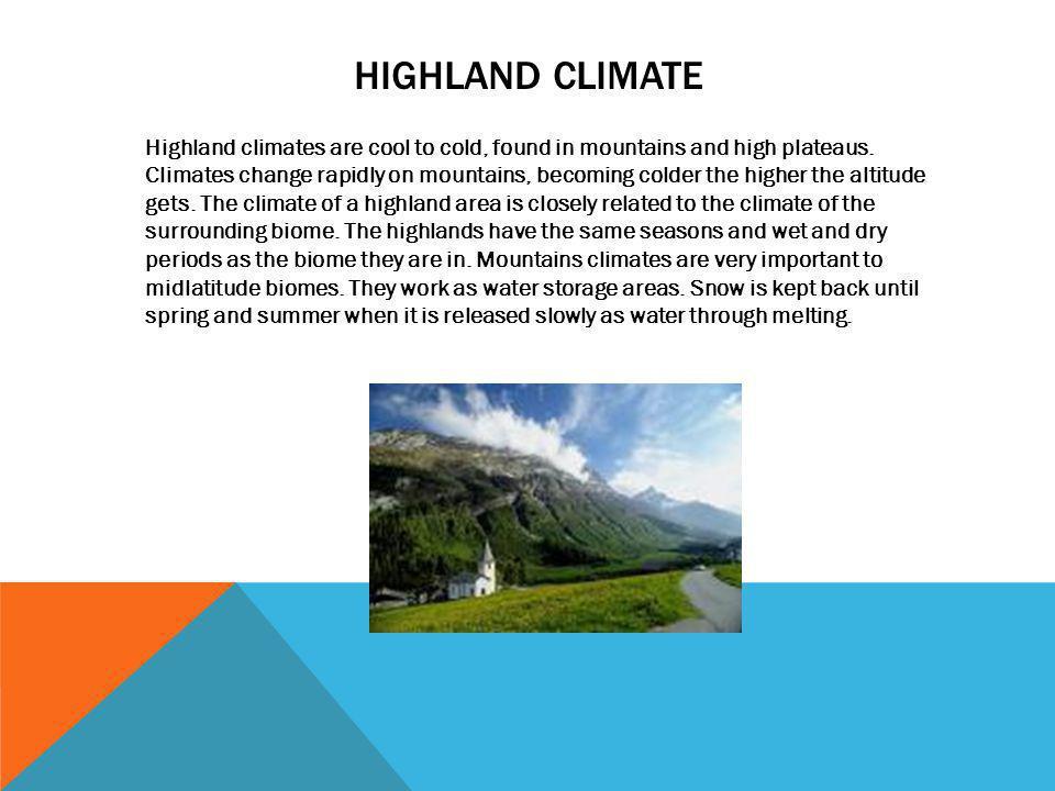 Highland climate