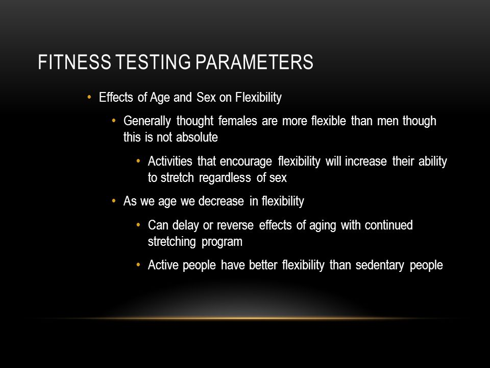Fitness Testing Parameters