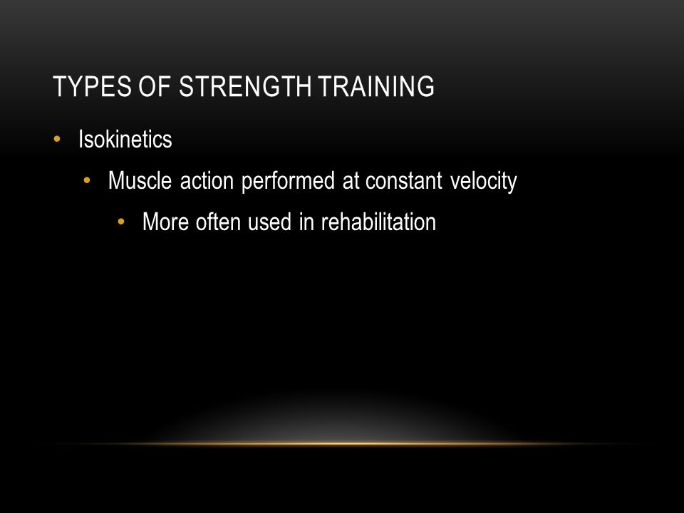 Types of Strength Training