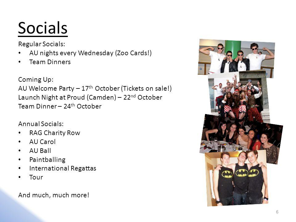 Socials Regular Socials: AU nights every Wednesday (Zoo Cards!)
