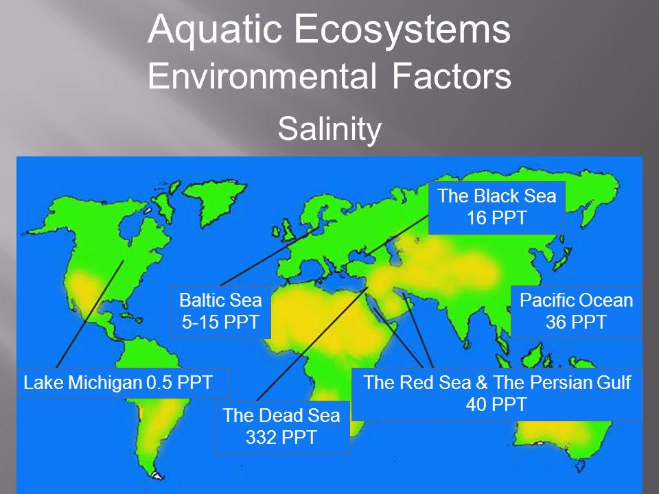 Aquatic Ecosystems Environmental Factors Salinity