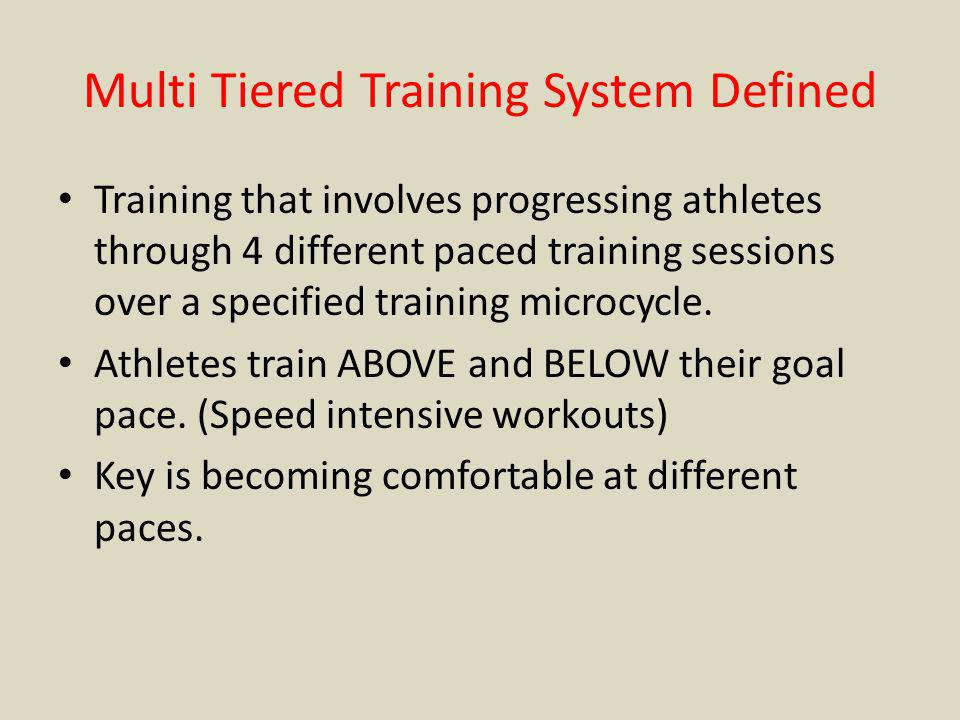 Multi Tiered Training System Defined