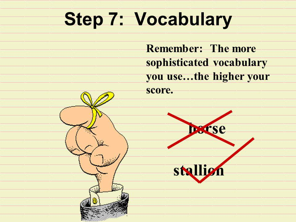Step 7: Vocabulary horse stallion