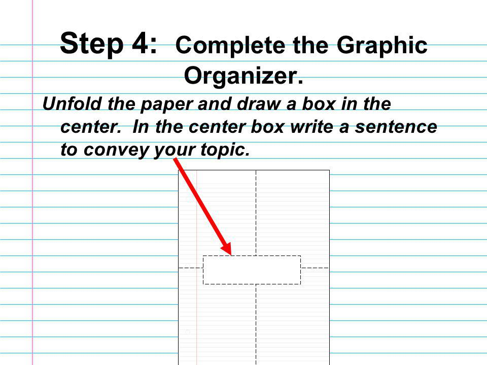 Step 4: Complete the Graphic Organizer.