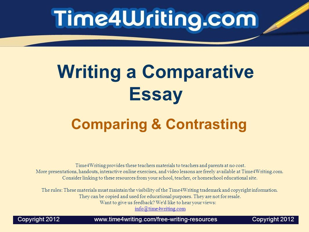 comparative essay writing lesson