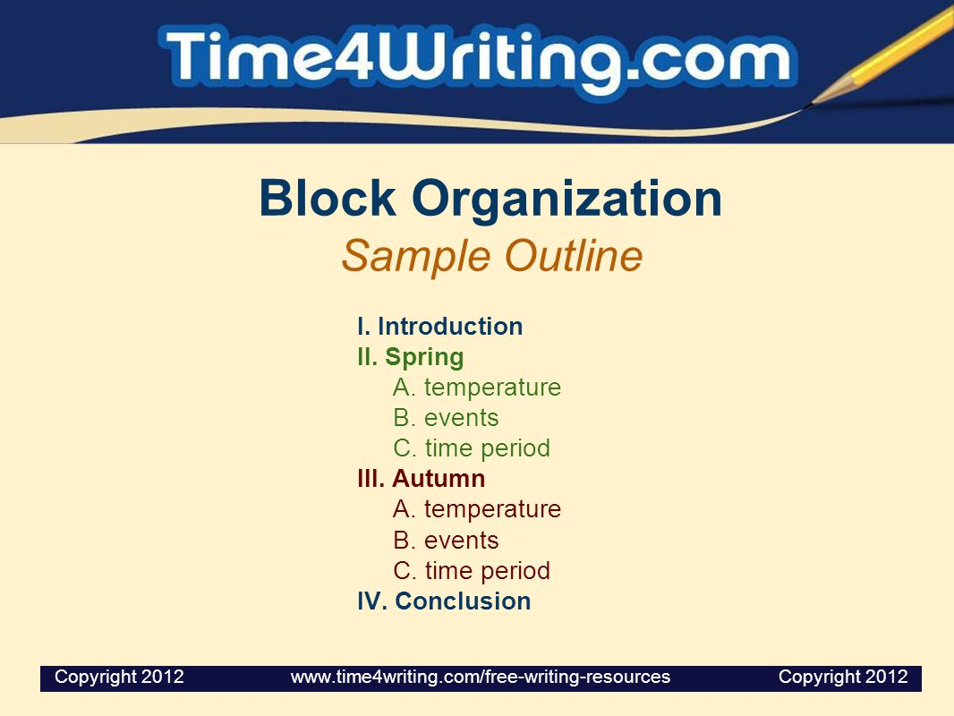 block organization essay Essay #2 is an explanation block introduction + thesis in paragraph 1 body: definition of addiction then cause and effect organization.