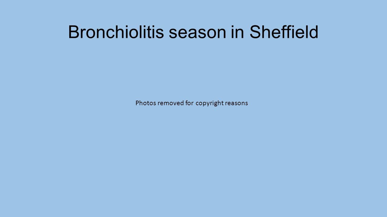 Bronchiolitis season in Sheffield