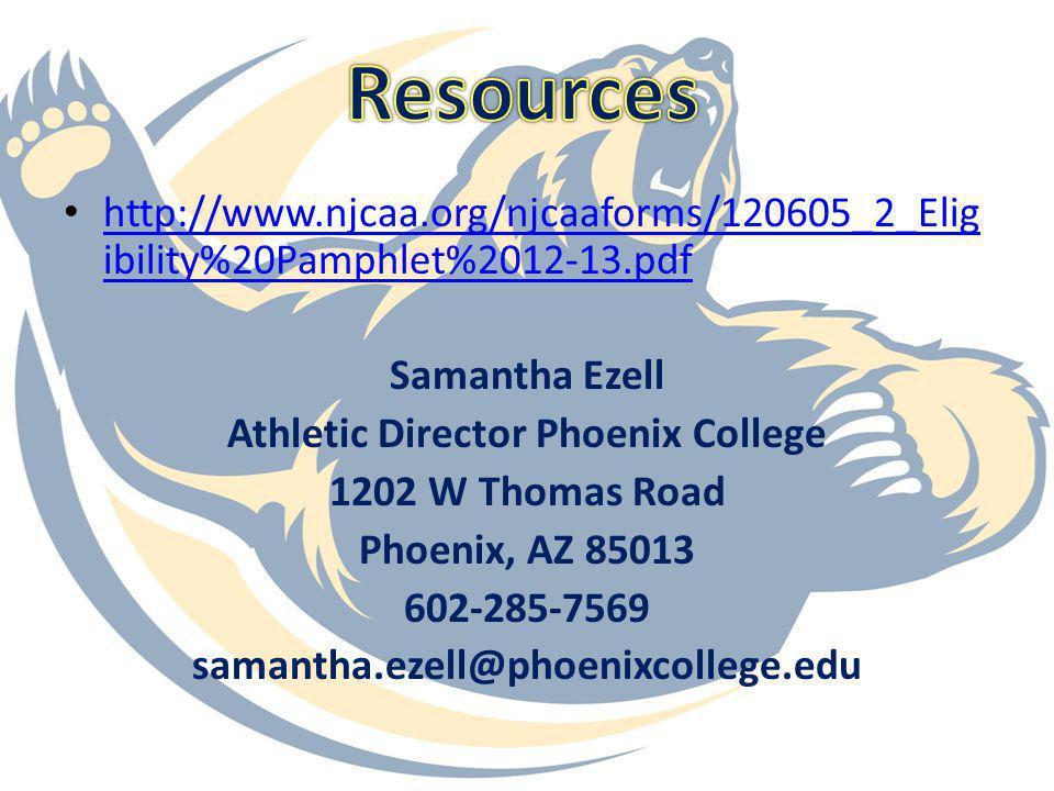 Athletic Director Phoenix College