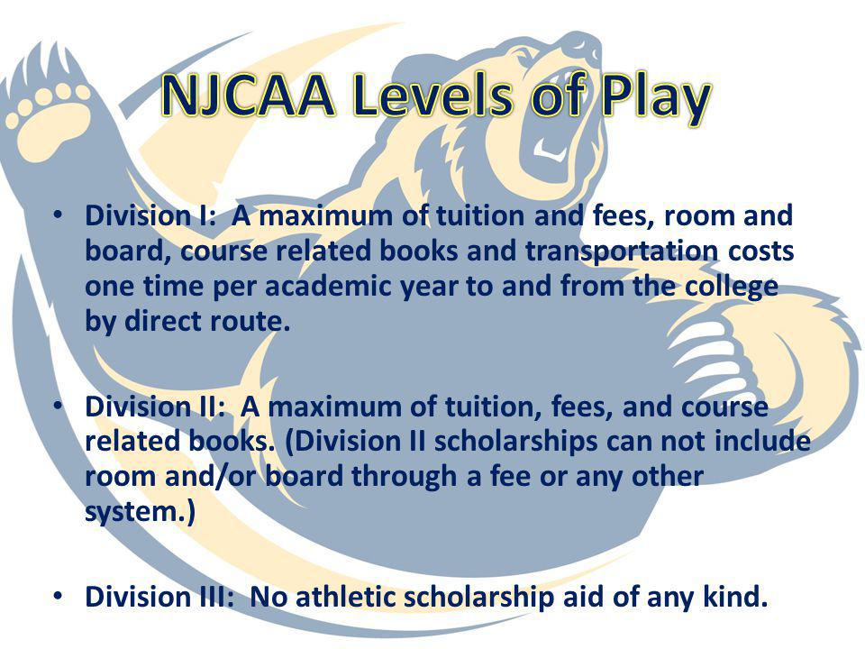 NJCAA Levels of Play