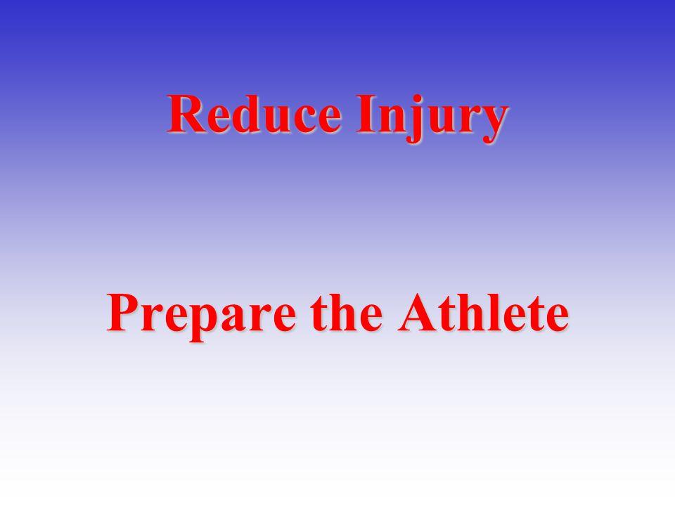 Reduce Injury Prepare the Athlete