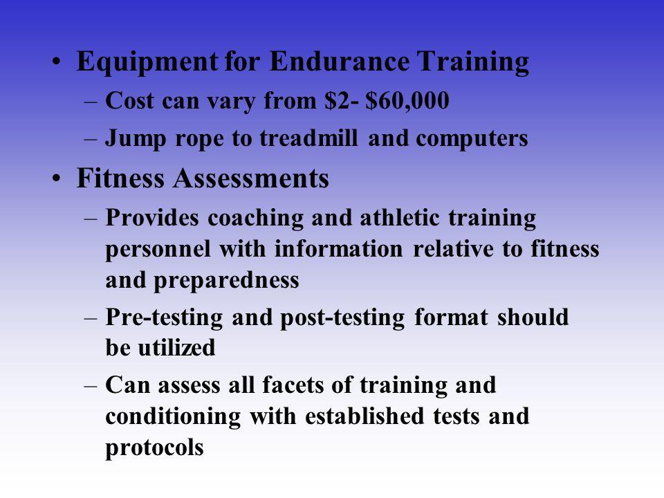 Equipment for Endurance Training