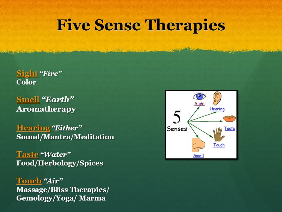 Five Sense Therapies Sight Fire Smell Earth Aromatherapy