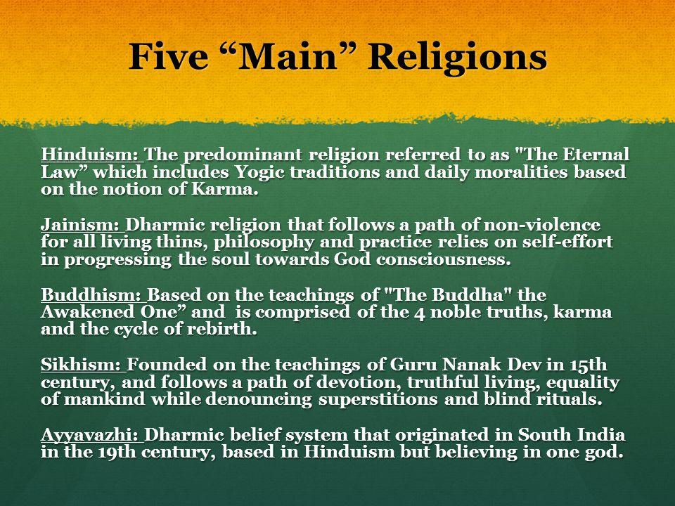 Five Main Religions