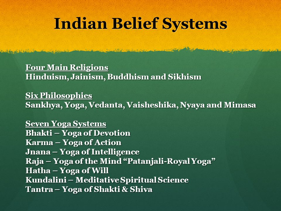 Indian Belief Systems