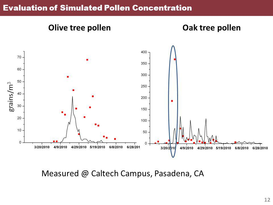 Evaluation of Simulated Pollen Concentration