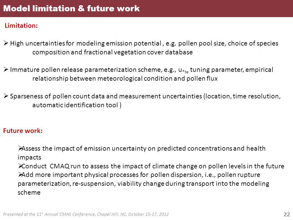 Model limitation & future work