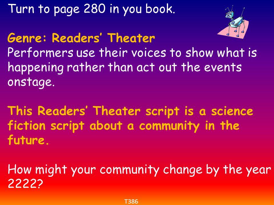 Genre: Readers' Theater
