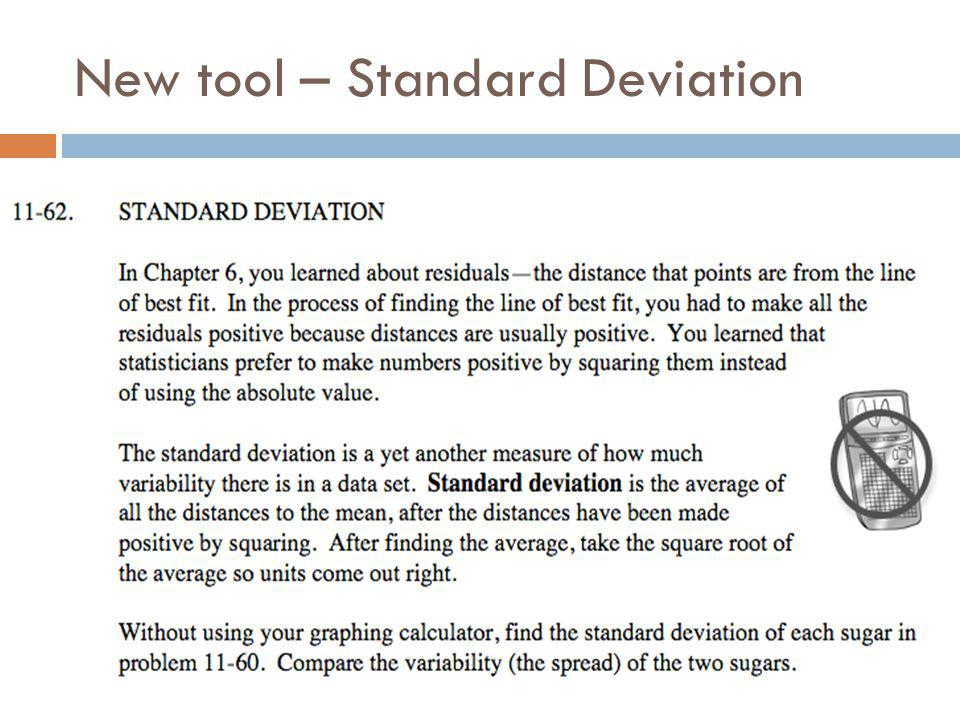 New tool – Standard Deviation
