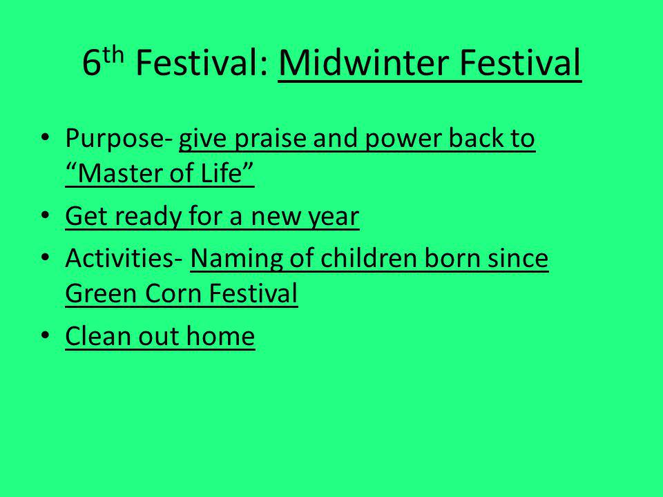 6th Festival: Midwinter Festival