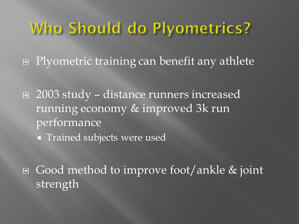 Who Should do Plyometrics
