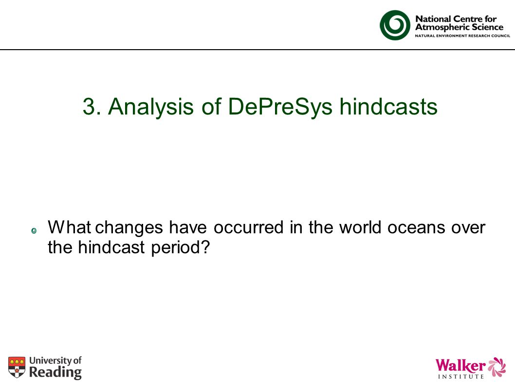 3. Analysis of DePreSys hindcasts