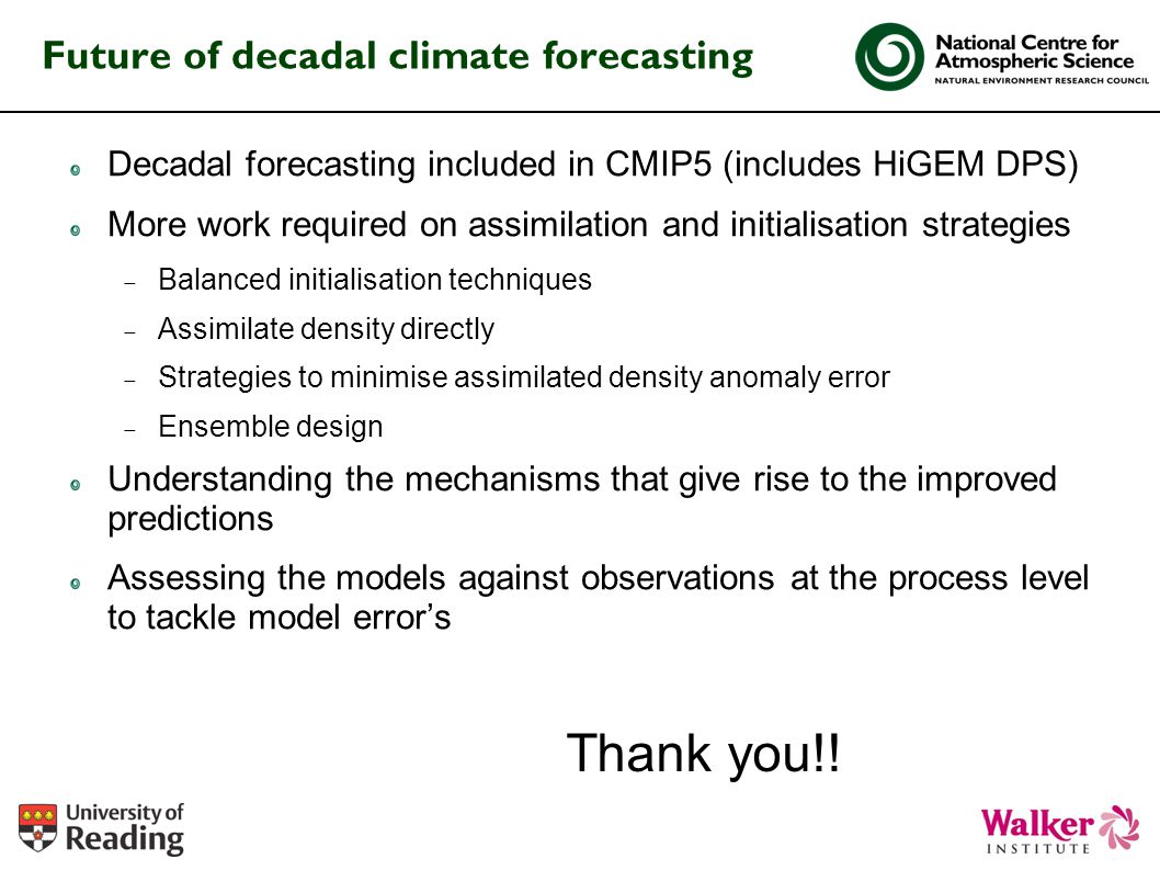 Future of decadal climate forecasting