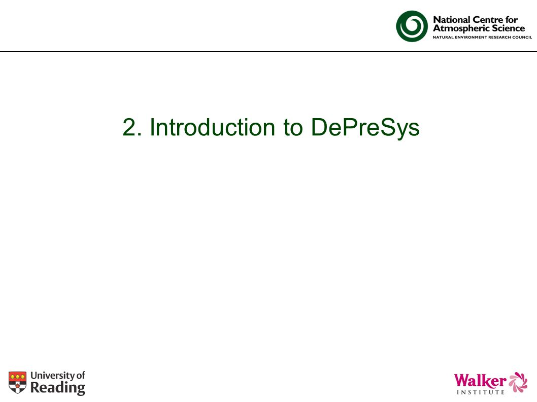 2. Introduction to DePreSys