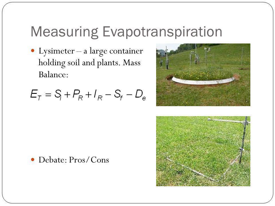 Measuring Evapotranspiration