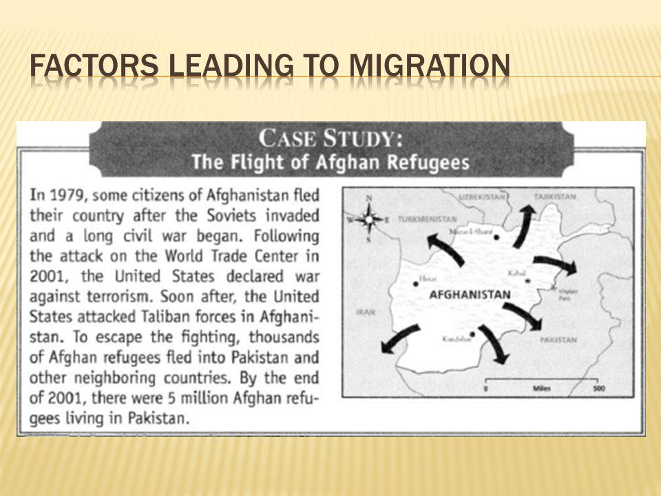 Factors Leading to Migration