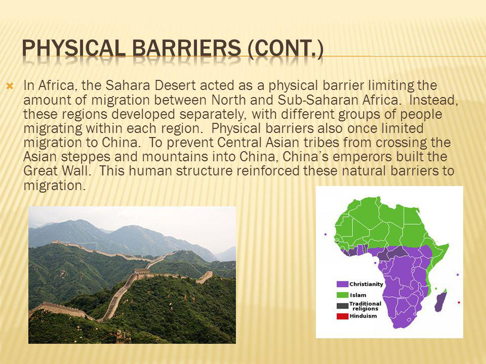 Physical Barriers (cont.)