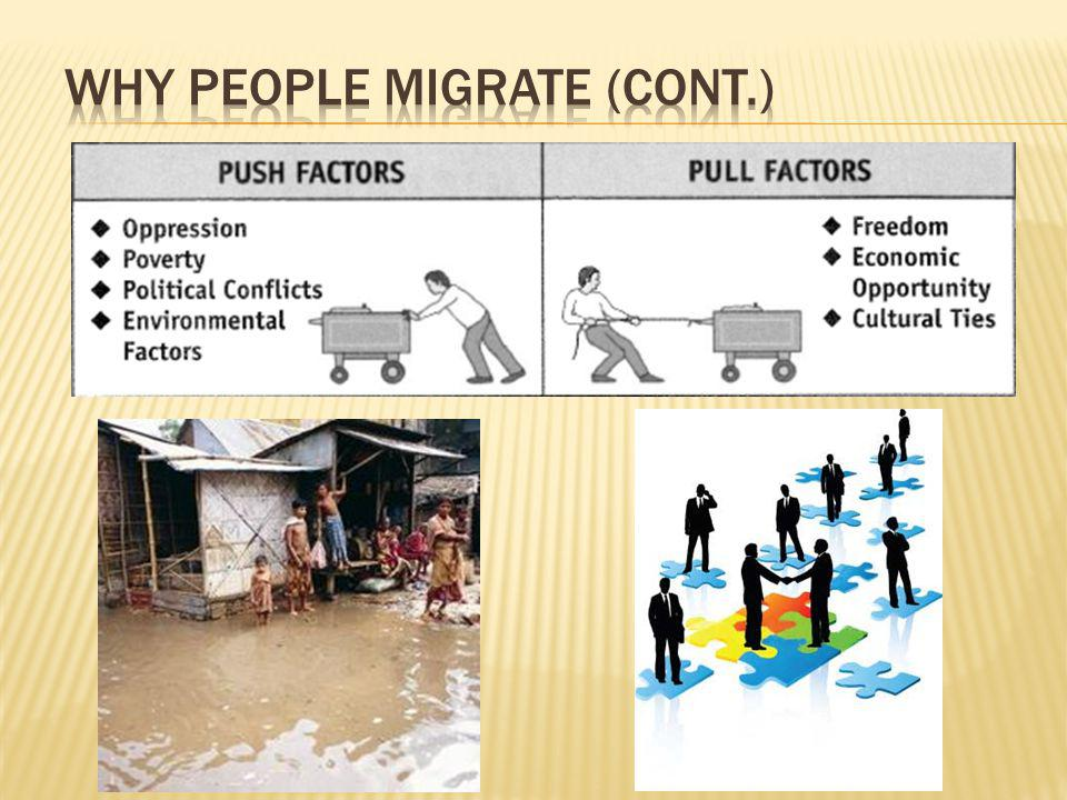 Why People Migrate (cont.)