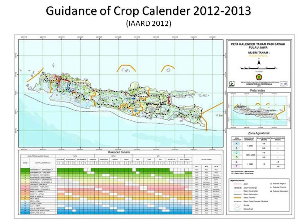 Guidance of Crop Calender 2012-2013 (IAARD 2012)