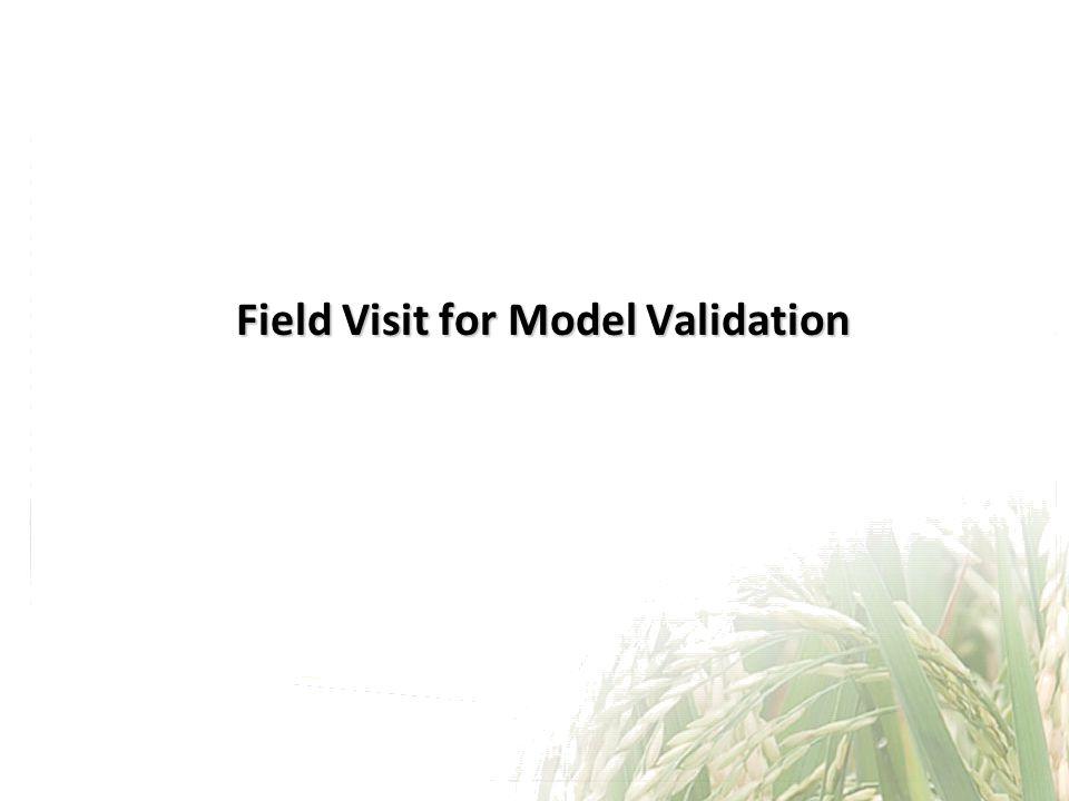 Field Visit for Model Validation