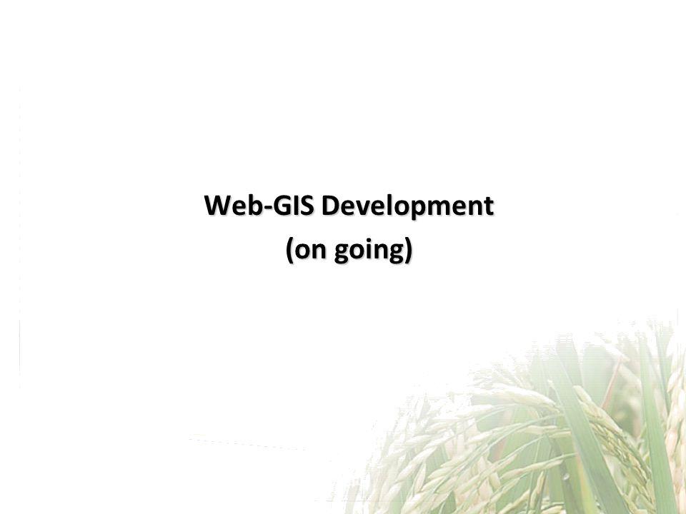 Web-GIS Development (on going)
