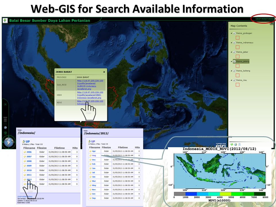 Web-GIS for Search Available Information