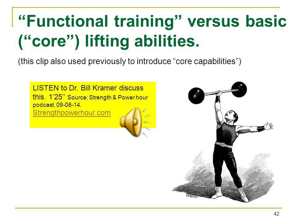 Functional training versus basic ( core ) lifting abilities.