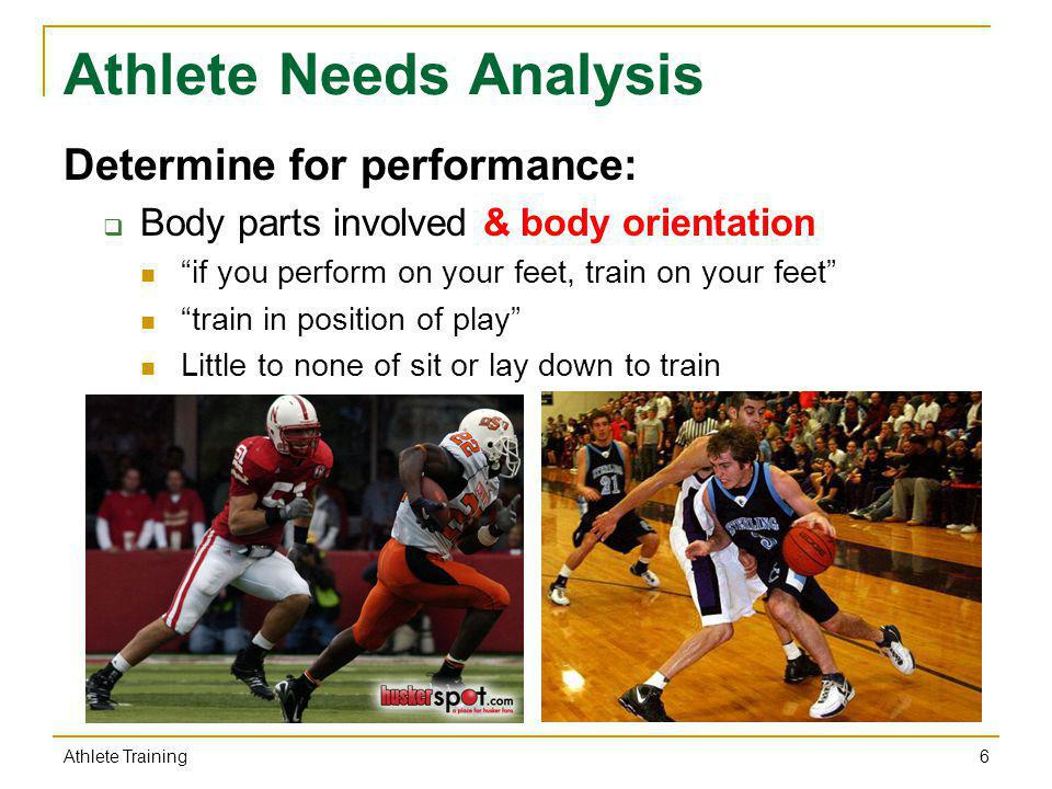 Athlete Needs Analysis