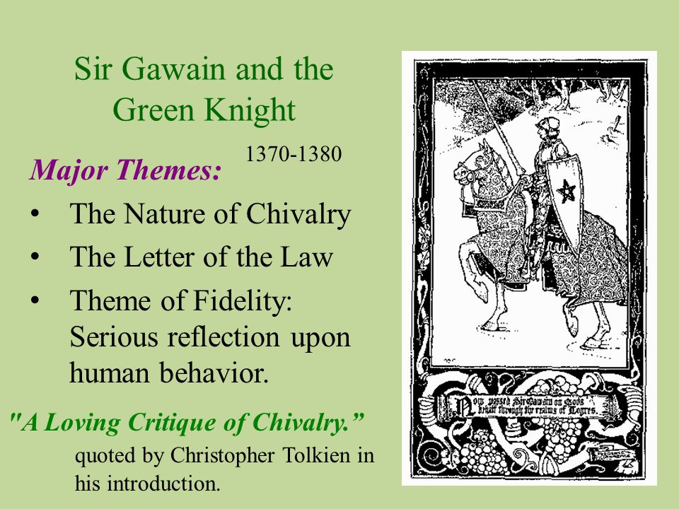 examples of chivalry in sir gawain and the green knight