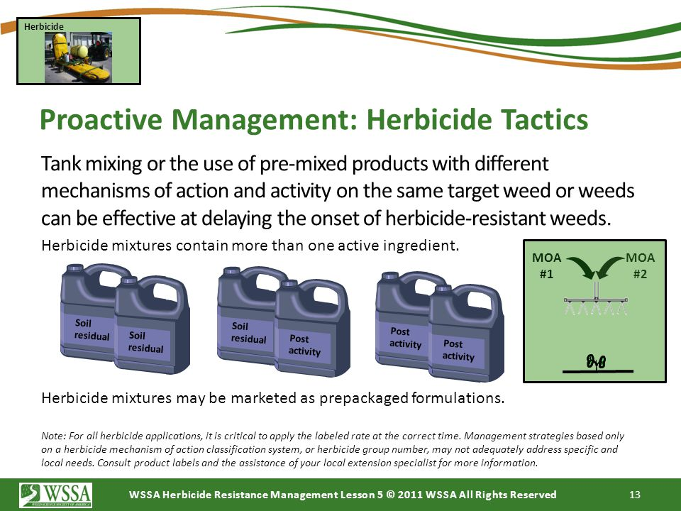 Proactive Management: Herbicide Tactics