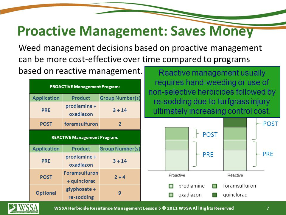 Proactive Management: Saves Money