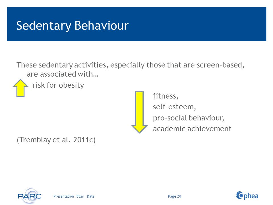 Sedentary Behaviour These sedentary activities, especially those that are screen-based, are associated with…