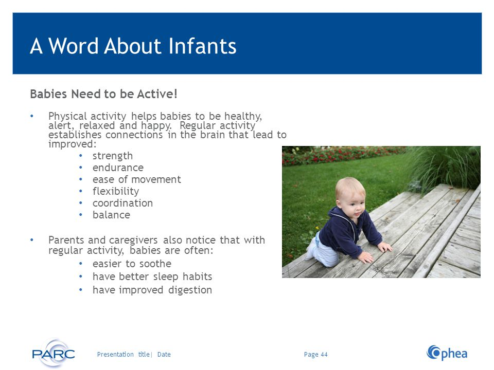 A Word About Infants Babies Need to be Active!