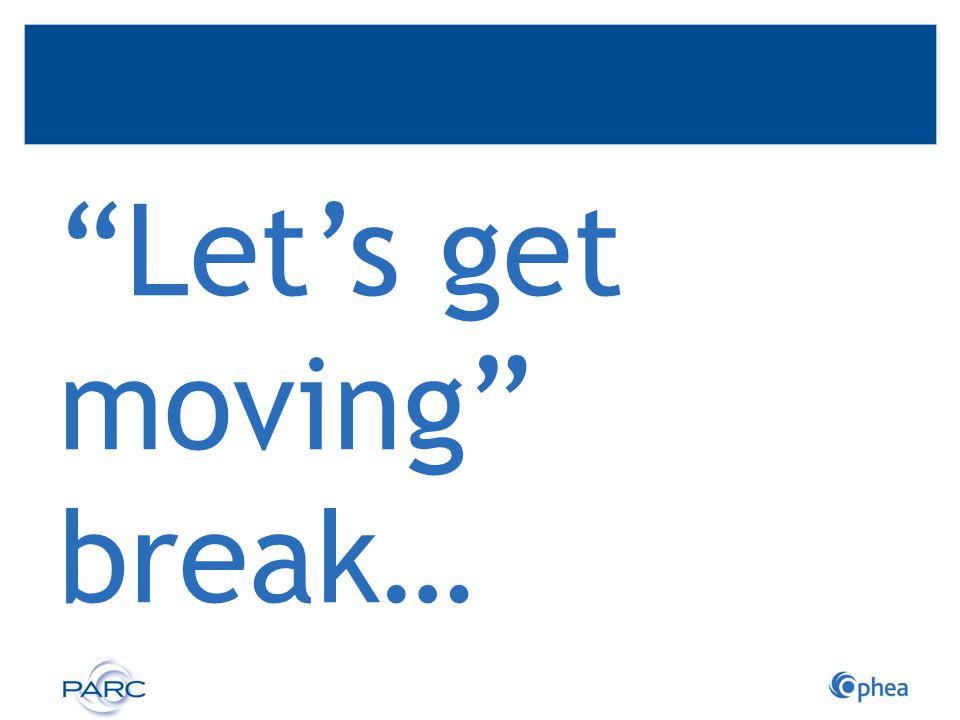 Let's get moving break…