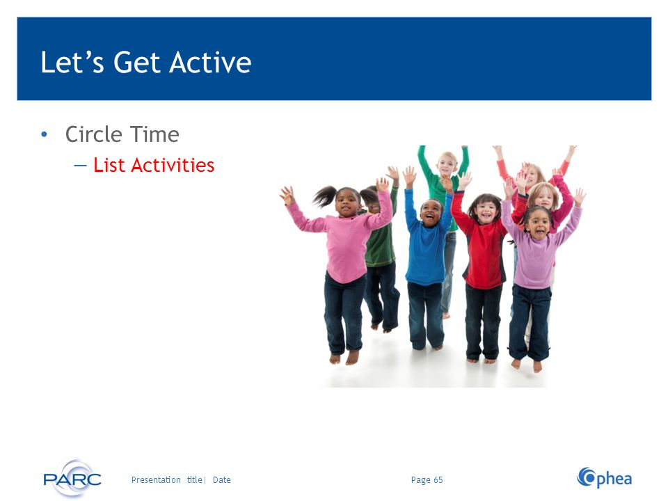 Let's Get Active Circle Time List Activities Ready-to-go Activities: