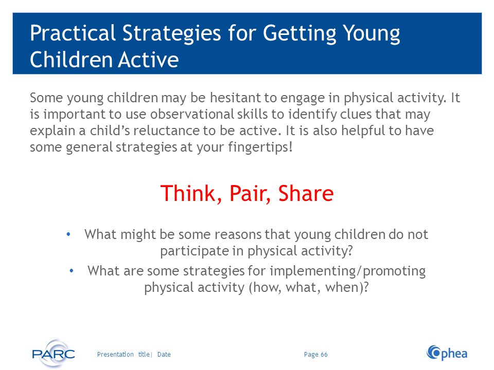 Practical Strategies for Getting Young Children Active