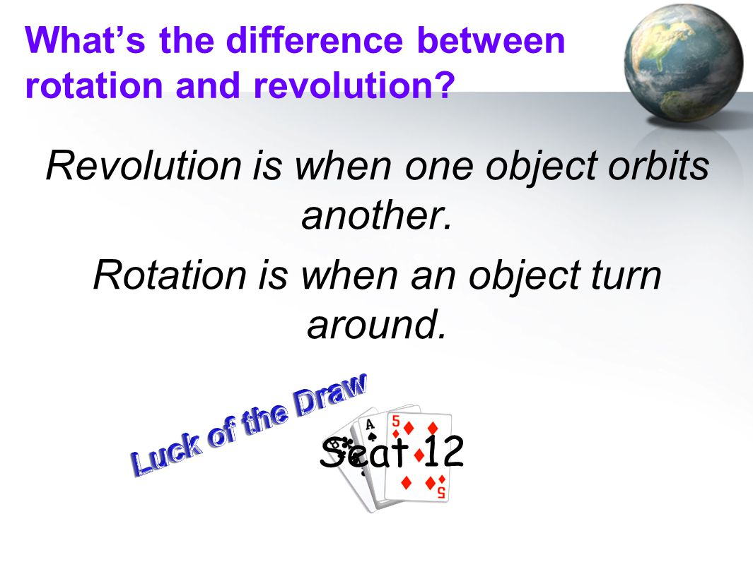 What's the difference between rotation and revolution