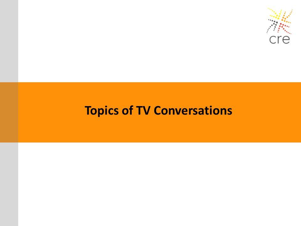 Topics of TV Conversations